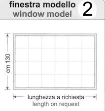 Finestra Pvc Cristal window rettangolare