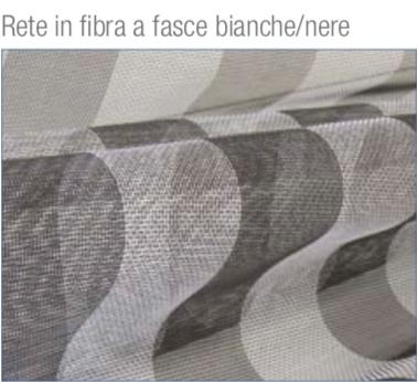 Rete in fibra a fasce biance/nere