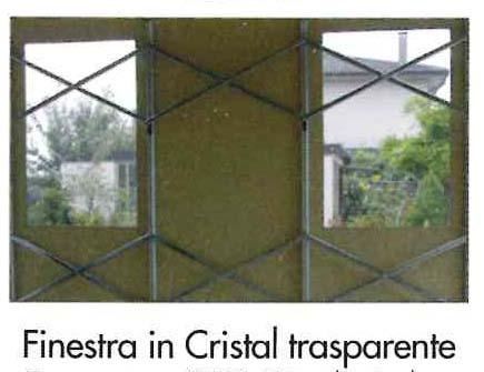 Finestra in cristal trasparente