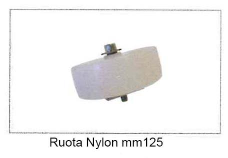 Ruota in Nylon mm.125 con vite