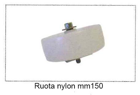 Ruota in Nylon mm.150 con vite