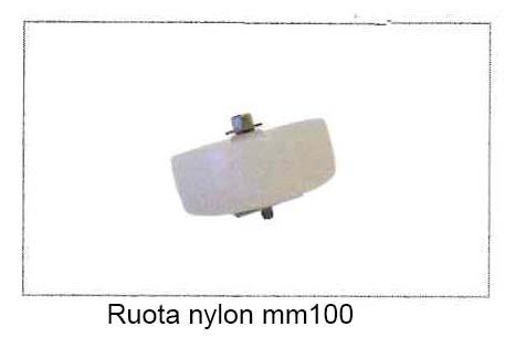 Ruota in Nylon mm.100 con vite